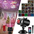 SOMKTN Christmas Led Projector Lights, Light Projector Outdoor Indoor Decoration for Party Holiday Halloween for Garden House Tree Yard