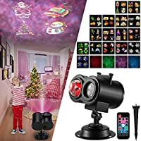 SOMKTN 2 in 1 Ocean Wave Led Halloween Christmas Projector Lights for Xmas Home Birthday Party
