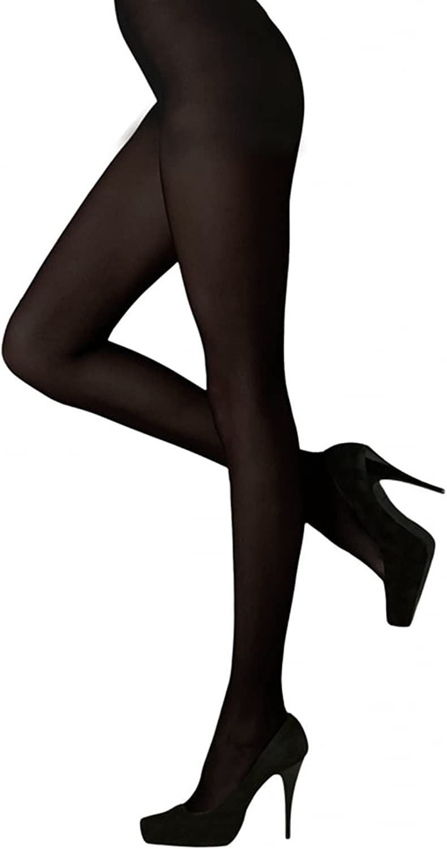 2 Pair Pack Pretty Legs Black Semi Opaque 40 Denier Tights