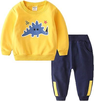 Comprar Coralup Chándales de camuflaje para niños pequeños + pantalones 2 piezas de algodón para niños conjuntos de ropa verde 5-6 años Talla 18-24 meses
