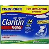 Claritin Allergy 24 Hour 10mg Non-Drowsy Redi-Tabs - 60 ct - 2 pk