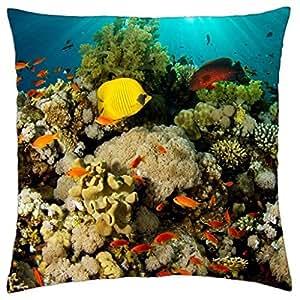 Under the sea - Throw Pillow Cover Case (18