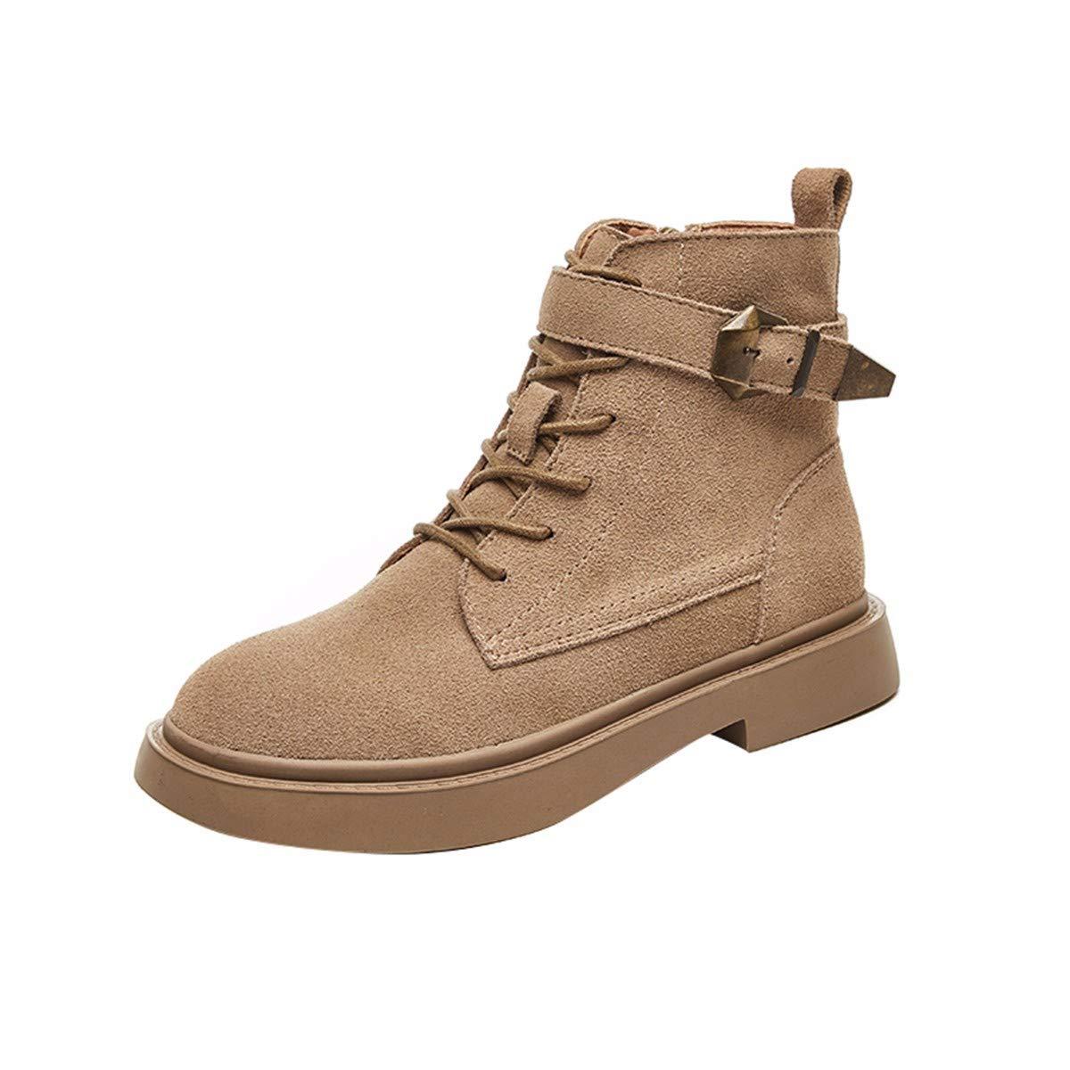 KPHY Damenschuhe Leder Britische Wind Hohe Hohe Hohe Martin Sommer Schuhe Stiefel Chelsea Stiefel Studenten-Stiefel.35 Schwarz a68adb