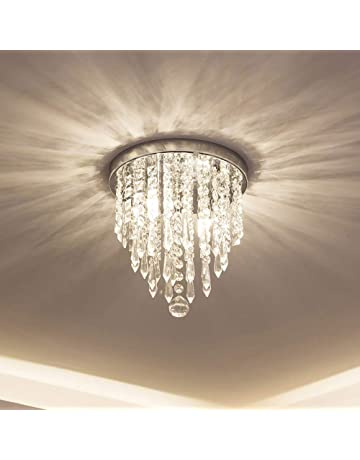 c5c19d94ff lifeholder Mini Chandelier, Crystal Chandelier Lighting, 2 Lights, Flush  Mount Ceiling Light,