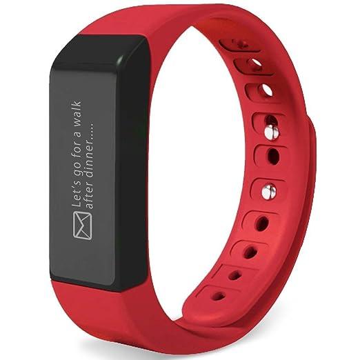 Pulsera inteligente, huiheng i5 Plus Wireless podómetro pulsera IP65 resistente al agua deporte pulsera pulsera inteligente reloj podómetro dormir ...