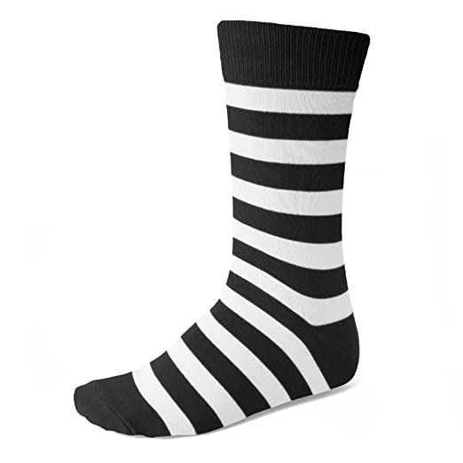 800e47f50b2 Image Unavailable. Image not available for. Color  Men s Black and White Striped  Socks