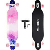 Longboard Skateboard, 41 Inch 8 Layer Canadian Maple Drop Through Longboards for Kids Boys Girls Youths Beginners.
