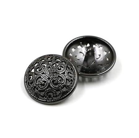10Pcs Bottone dei Vestiti Retro Bottone Cava Cucito Bottone Rotondo Metallo set per Uomo Donna Blazer, Cappotto, Divisa, Camicia, Completo e Giacca