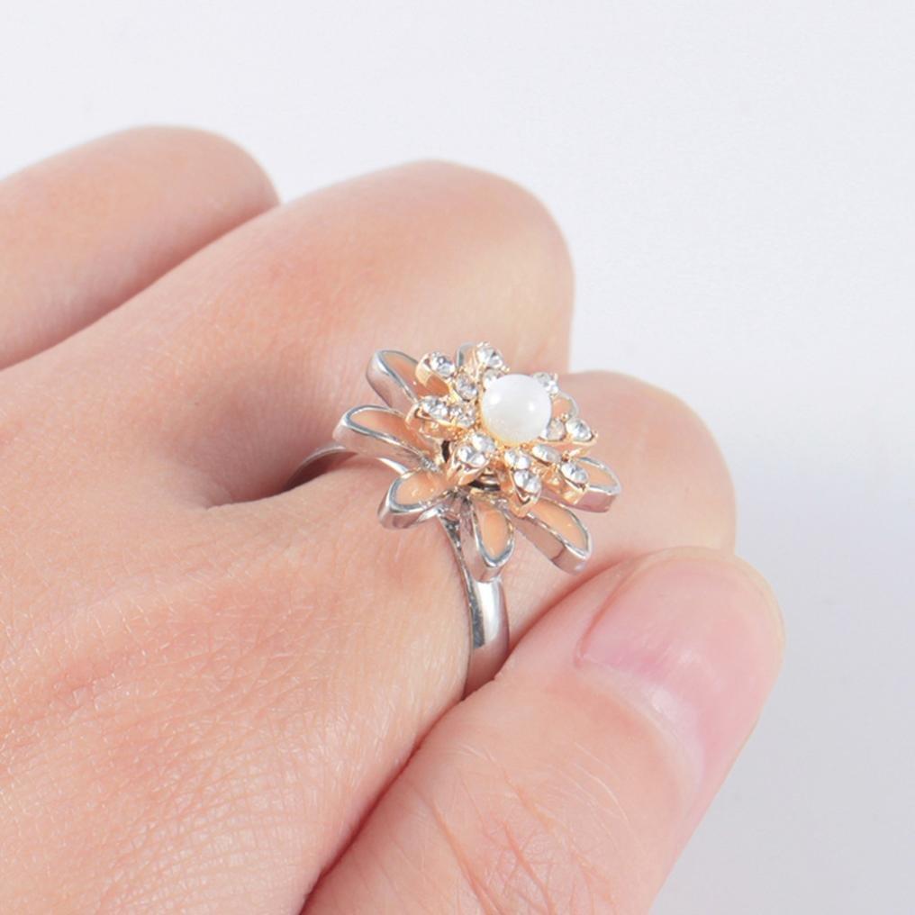 Amazon.com: iLH® Clearance Rings,ZYooh Women Rotating Ring Diamond ...