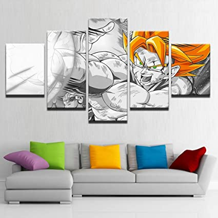 Home & Garden Modular Printed Pictures Canvas Frame 1 Pieces Dragon Ball Character For Bedroom Living Room Home Wall Art Decor Spray Paintings Home Decor