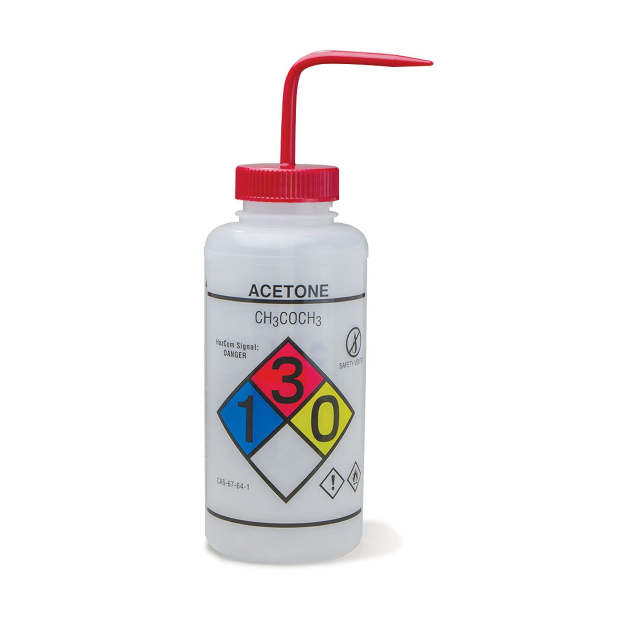 1000mL Acetone Wash Bottles Vented Right to Know GHS by CeilBlue