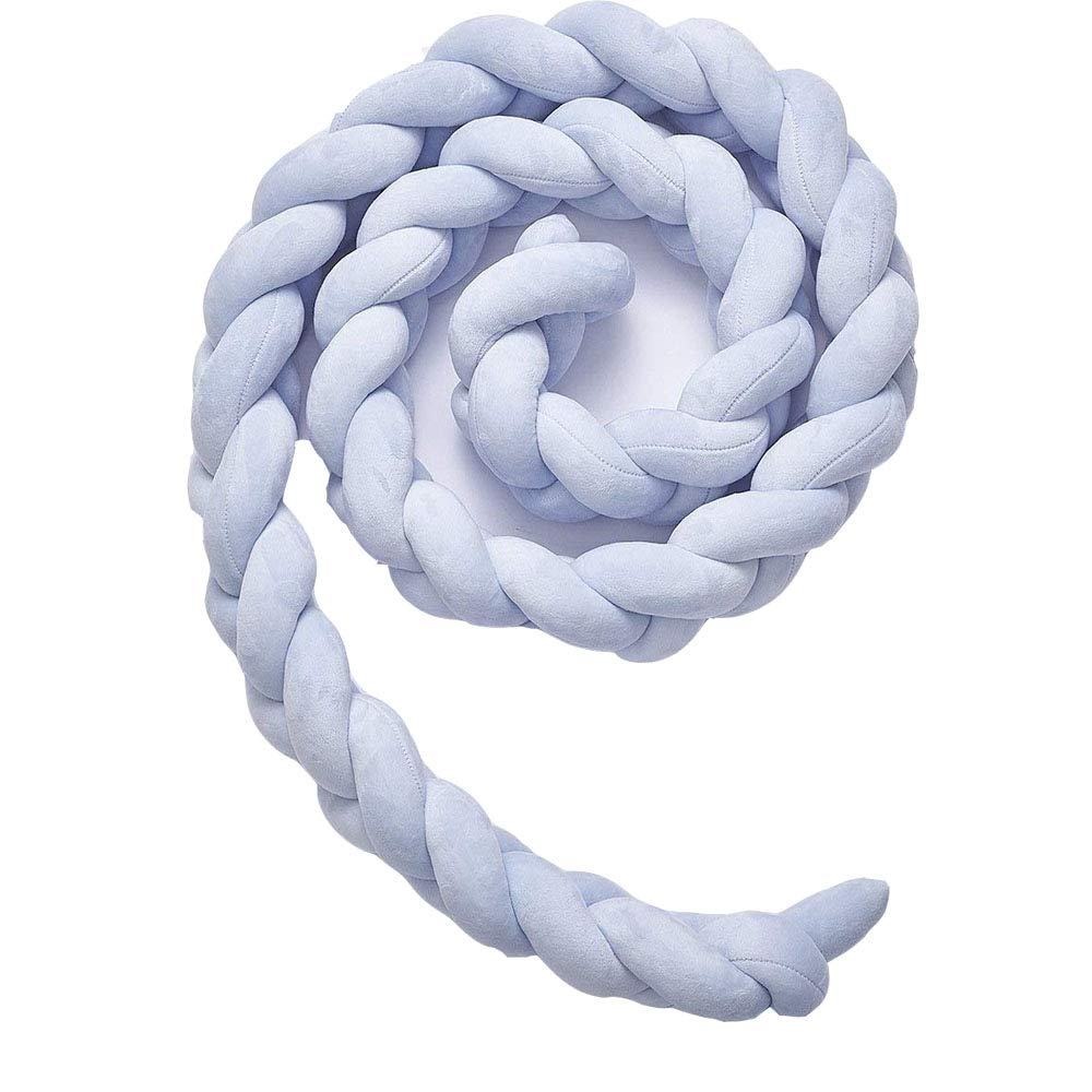 EXQUILEG Bettumrandung 1M, Blau Baby Nestchen Weben Kopfschutz und Kantenschutz f/ür Babybett Kinderbett