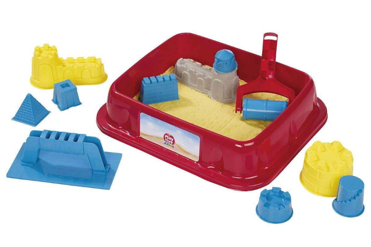 Playtive Junior Knetsand Knete Sand Burg 11-teilig Rot