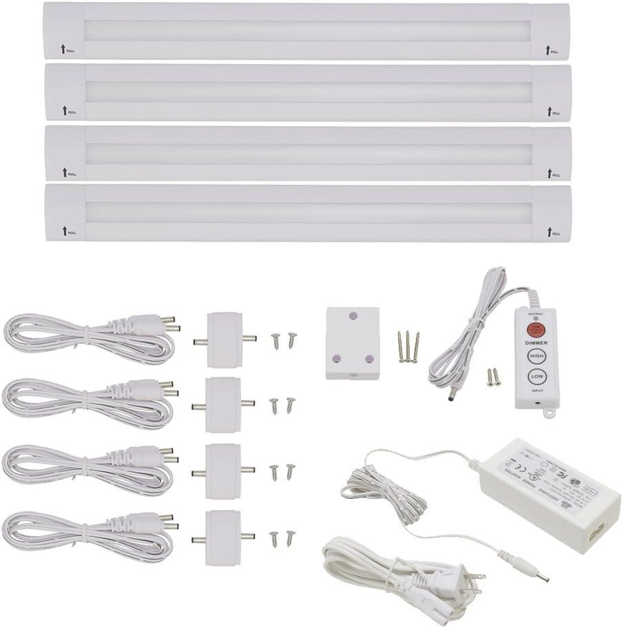 Lightkiwi Y2657 Lilium 12 Inch Warm White Modular LED Under Cabinet Lighting - Standard Kit (4 Panel)