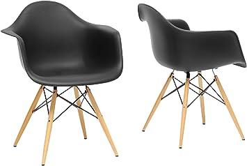 "Mid-Century Modern Furniture Legs New Old Stock Ebony Black 7/"" Set of 4"