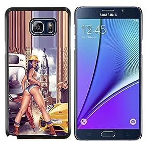 EJOOY---Cubierta de la caja de protección para la piel dura ** Samsung Galaxy Note 5 5th N9200 ** --sexy piernas a tope construcción casco Mujer
