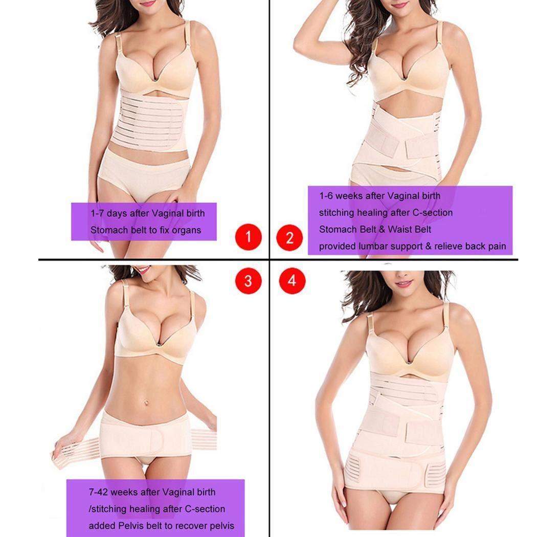 Pinsparkle Three-Piece Postnatal Shapewear Belly Waist Pelvis Belt Postpartum Body Shaper Prenatal Monitoring Devices