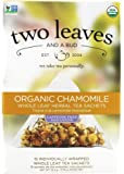 Two Leaves and a Bud Organic Chamomile Herbal Tea, Tea Bags, 15-Count Box
