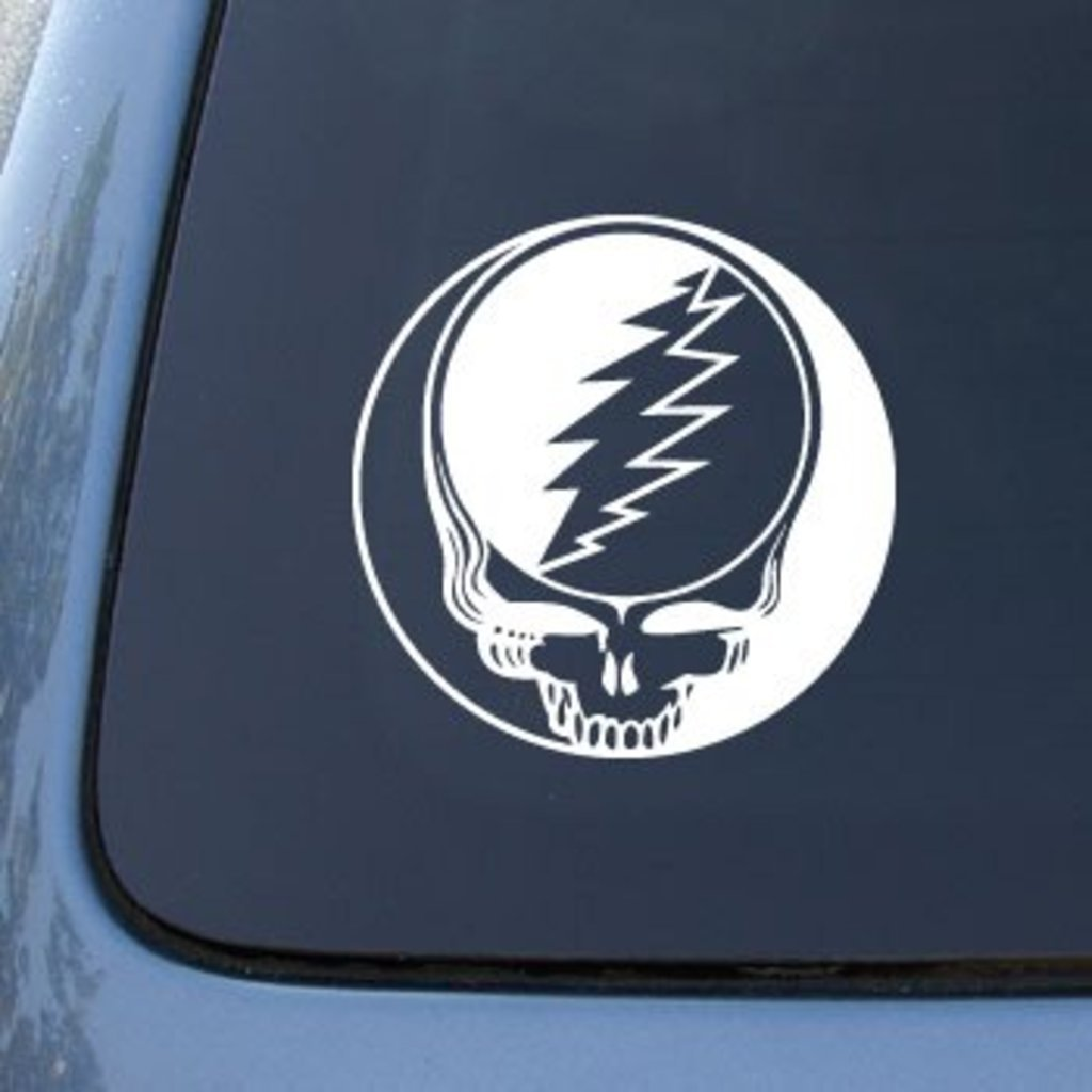CCI091 Grateful Dead Skull Vinyl Decal | 6 In Decal