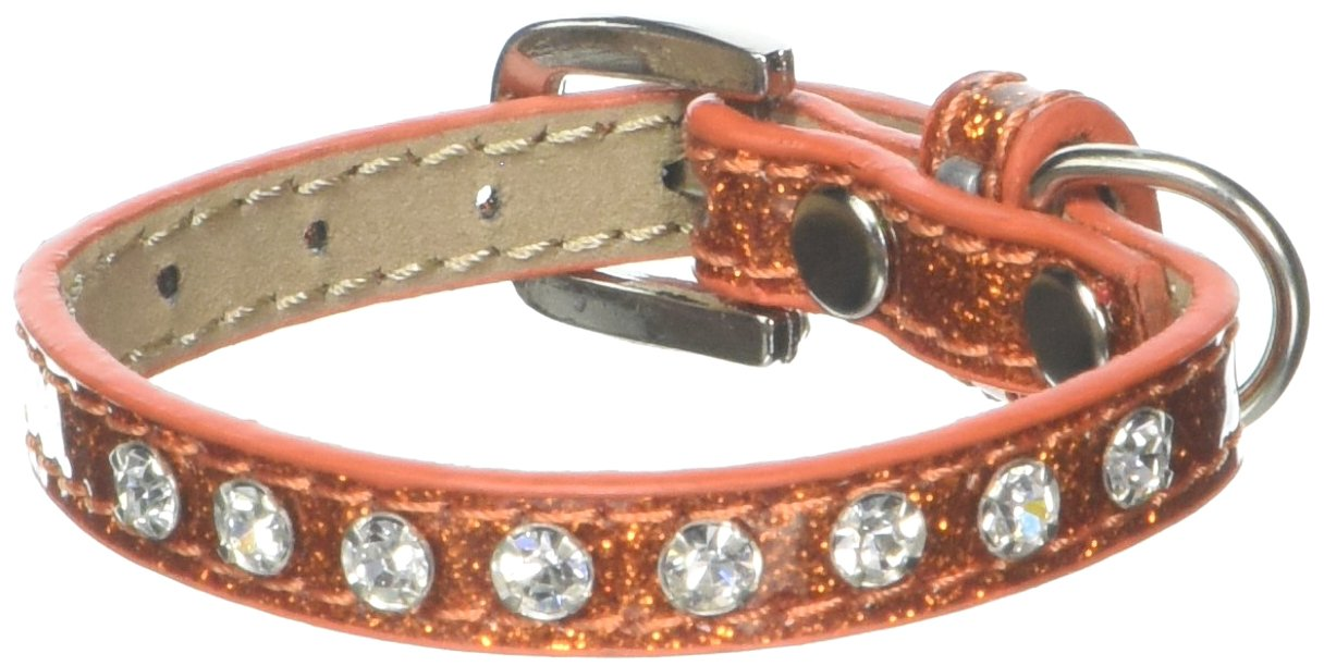 Mirage Pet Products Crystal Ice Cream Collar, 8-Inch, orange