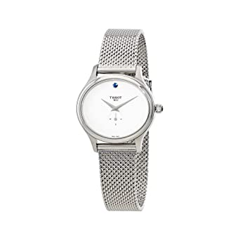 Tissot Womens Quartz Watch with Stainless-Steel Strap, Silver, 13 (Model: