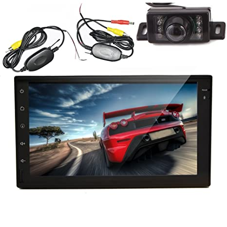 Amazon.com: Car Auto radio GPS Sat Navigation android 4.2 WiFi Bluetooth 2 DIN Car Stereo Auto Capacitive Tablet+Wireless Camera: Cell Phones & Accessories