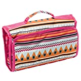 Silverhooks Travel Cosmetic Organizer Bag (Multicolor Aztec Print)