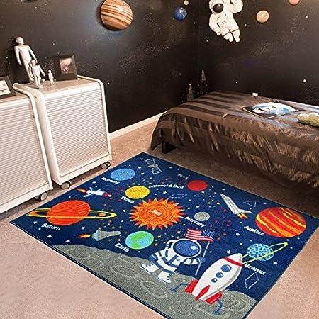 GRENSS Kids Educational Galaxia Planetas Estrellas Alfombra