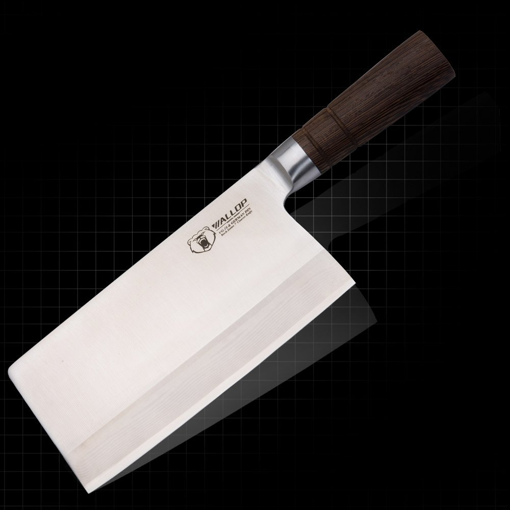 7.5'Chinese Cleaver - Chopping - Meat&Vegetable Knife Cutter Combines 67 Layers Japanese Damascus Blade&German Stainless Steel,Non-Slip Ergonomic Wenge Wood Handle,Classic Chef Knife Chopper WALLOP