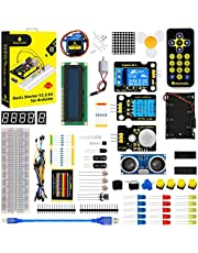 KEYESTUDIO for Arduino MEGA2560, UNO, Nano Electronic Starter Kit with Breadboard Cable Resistor, Capacitor, LED Project w/Tutorial
