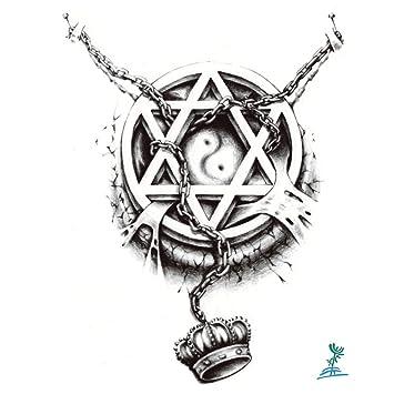 Amazon.com: yeeech tatuaje temporal papel 3d hexagonal ...