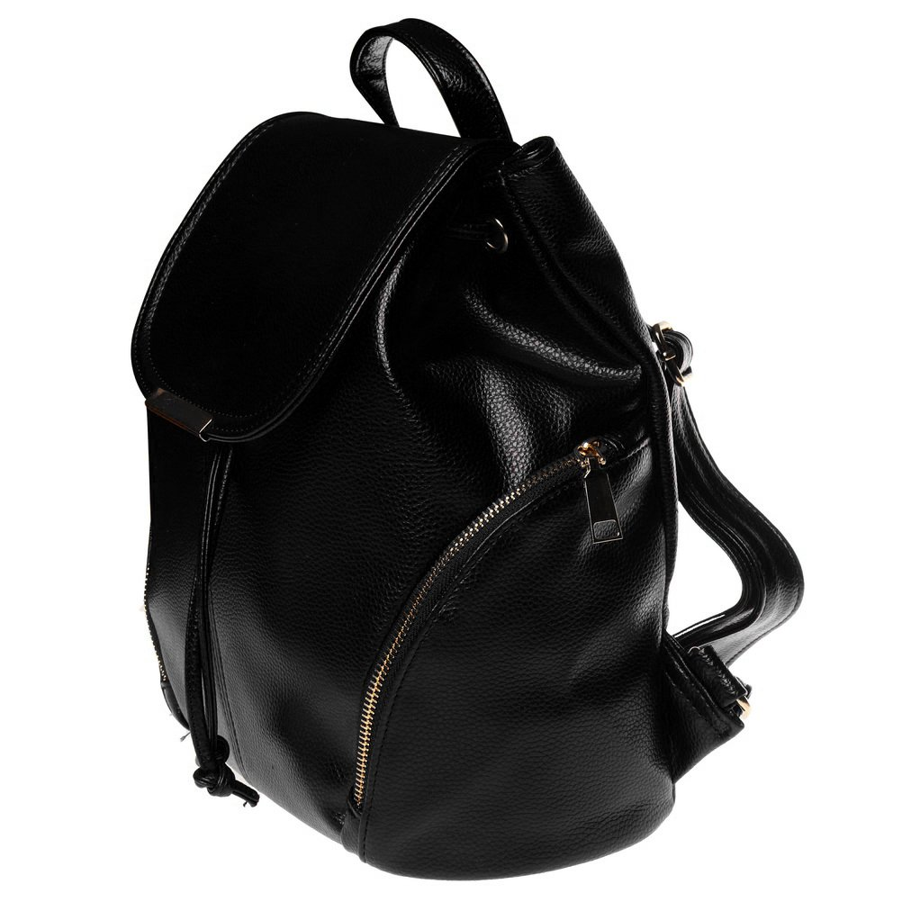 Leather Backpack, Women Casual Mini Backpack, Girls School Bag Shoulder Bag Black