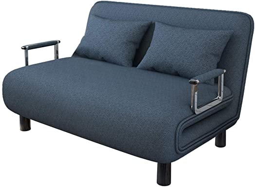Double Convertible Sofa Bed Modern Lazy Folding Arm Chair Sofa Simple Couch