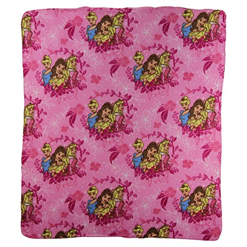 Kids Favorite Character Fleece Blanket(Disney Princesses Mirror)