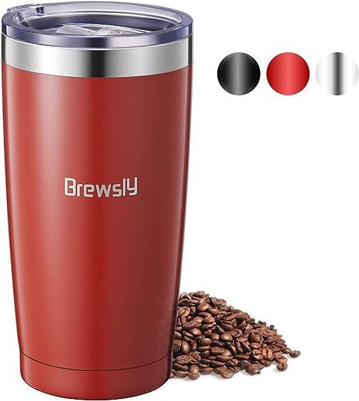 Brewsly Termo Cafe 600ml, 12 h Caliente y 24 h Frío, Botella ...