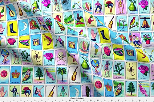 Loteria Fabric Loteria by Jellymania Printed on Basic Cotton Ultra Fabric by the Yard by Spoonflower