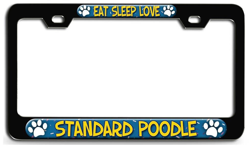 SHIBA INU PAW LOVE HEART PET DOG METAL LICENSE PLATE FRAME TAG HOLDER
