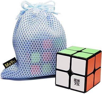 FunnyGoo MoYu Weipo 2x2 2 Capas Magic Cube Puzzle Speed Cubo Negro con una Bolsa de Cubo: Amazon.es: Juguetes y juegos