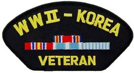Segunda Guerra Mundial y veterano de Corea gorro de parche Militar ...