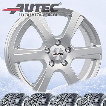 4 Invierno ruedas autec polaric ECE 6 x 15 ET23 4 x 108 Brillant Plata con