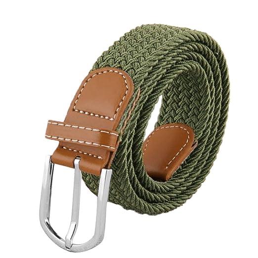 Beetest Stretch elástico Elegante Moda Unisex Hombre Trenzado Lona Correa  Cintura  Amazon.es  Deportes y aire libre 7864b81f51d7