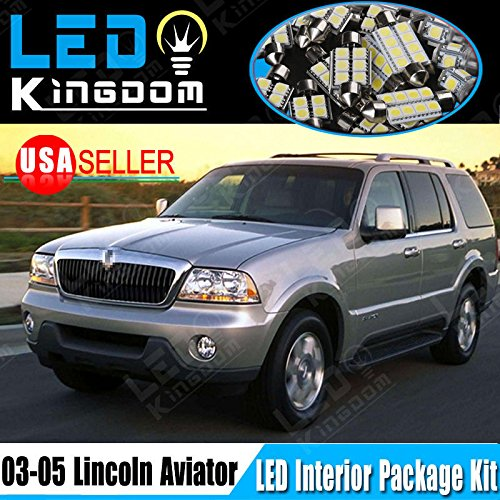 14-pcs-white-led-light-bulbs-interior-package-kit-for-2003-2005-lincoln-aviator