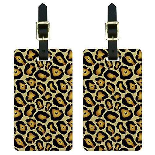 Graphics and More Jaguar Print Luggage Tags Suitcase Carry-On ID Set of 2