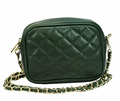 55f20a2aa32d6 BZNA Bag grün Italy Steppleder Designer Clutch Umhängetasche Damen  Handtasche Schultertasche Tasche Leder Neu