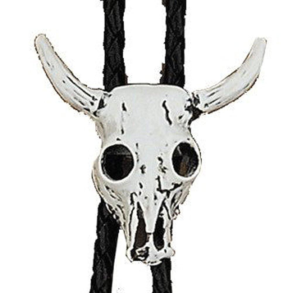 Steer Skull Cowboy Western Bolo Tie #304