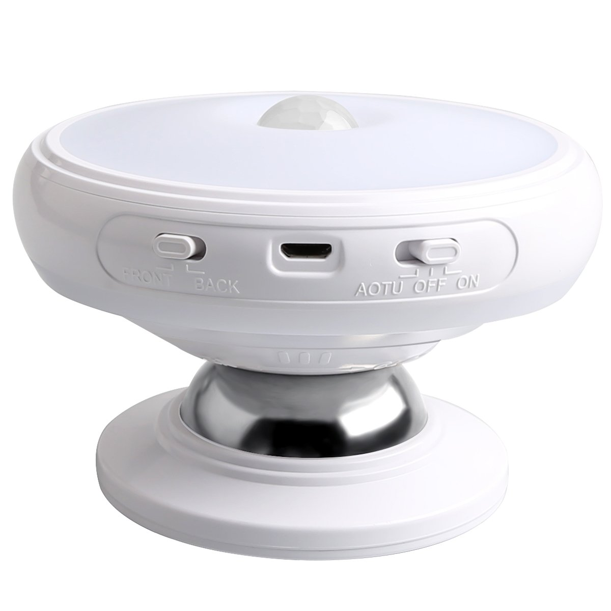 Motion Sensor Night Light, Detachable Magnet Base, USB Rechargeable LED,  Human Body Induction 360 Degree Rotation Night Light, Closet Lights Lamp,  ...