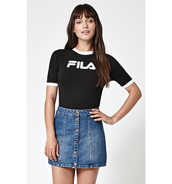 f7d9904c345 Fila Womens Crop Short Sleeves Casual Top  Amazon.ca  Clothing   Accessories