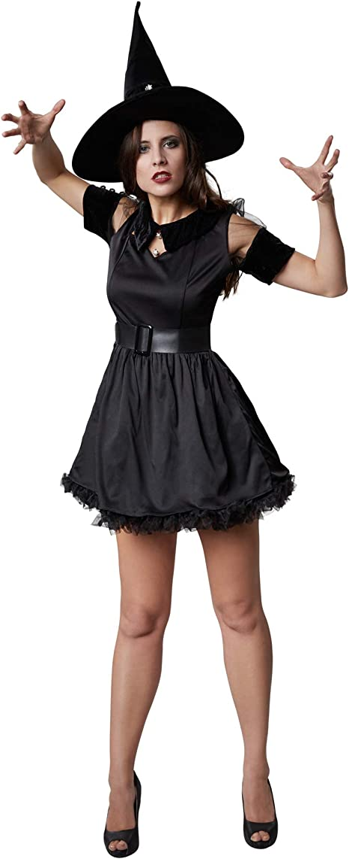 dressforfun 900512 - Disfraz de Mujer Bruja Negra Tarantella ...
