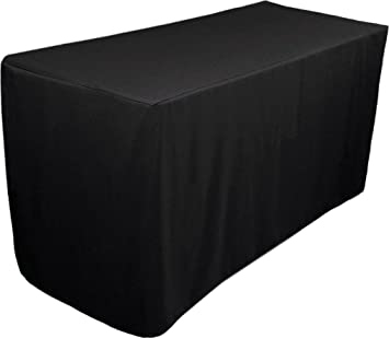 amazon com fitted tablecloth 6 feet rectangular table cover rh amazon com fitted table covers 72 fitted table covers rectangle