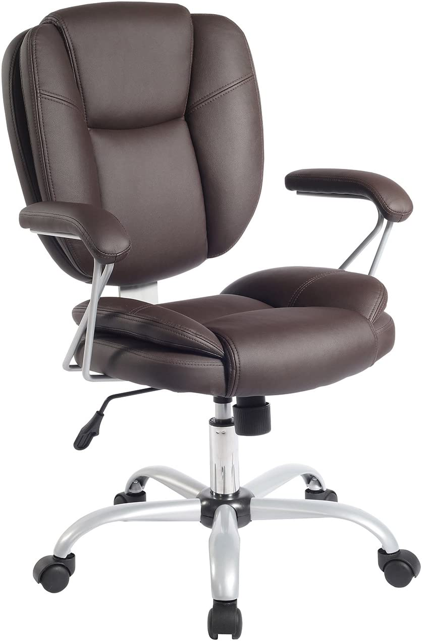 Plush Task Office Chair With Techniflex Upholstery. Color: Brown
